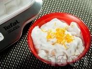 Млечен десерт  с пъпеш и рикота